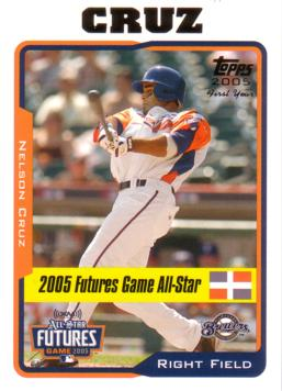 2005 Topps Update Nelson Cruz Rookie Card