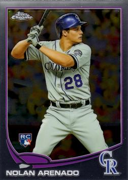 2013 Topps Chrome Baseball Nolan Arenado Rookie Card