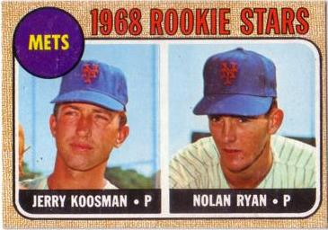 1968 Topps Nolan Ryan Baseball Rookie Card