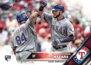 2016 Topps Update Baseball Nomar Mazara Rookie Card
