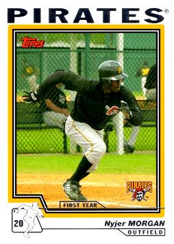 2004 Topps Traded Nyjer Morgan Rookie Card