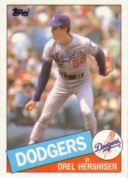 1985 Topps Orel Hershiser Rookie Card