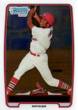 Oscar Taveras 1st Bowman Chrome Card