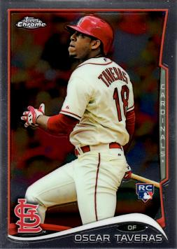 2014 Topps Chrome Baseball Oscar Taveras Rookie Card