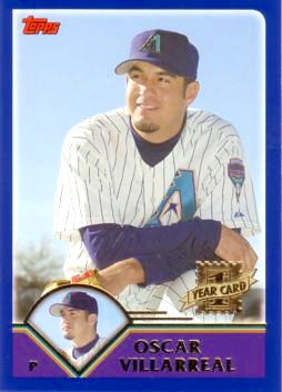 2003 Topps Traded Oscar Villarreal Rookie Card