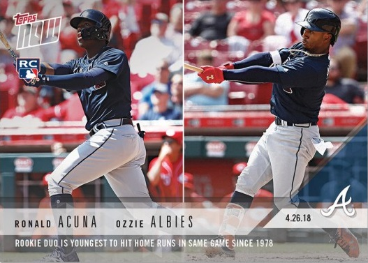 Ronald Acuna and Ozzie Albies Rookie Card