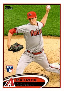 2012 Topps Update Patrick Corbin Rookie Card