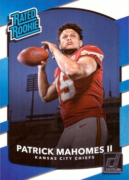2017 Panini Donruss Football Patrick Mahomes Rookie Card
