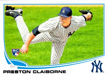 2013 Topps Update Preston Claiborne Rookie Card