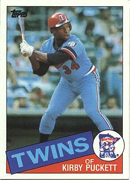 1985 Topps Kirby Puckett rookie card
