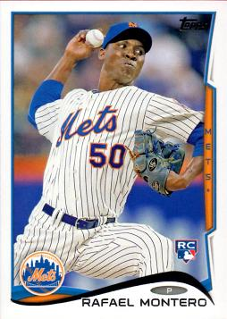 2014 Topps Update Baseball Rafael Montero Rookie Card