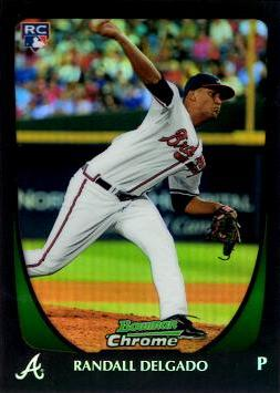 2011 Bowman Chrome Refractor Randall Delgado Rookie Card