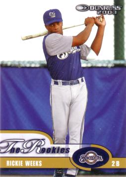 2004 Donruss The Rookies Rickie Weeks Rookie Card