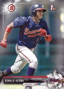 Ronald Acuna 1st Bowman Baseball Card