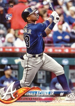 2018 Topps Update Baseball Ronald Acuna Rookie Card