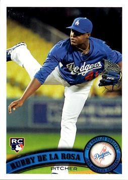 2011 Topps Update Rubby De La Rosa Rookie Card