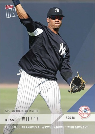 Russell Wilson Yankees Baseball Card