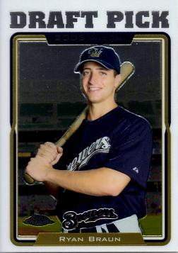 Ryan Braun Topps Chrome Update Rookie Card