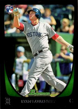 2011 Bowman Draft Picks Ryan Lavarnway Rookie Card