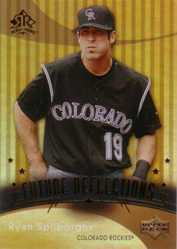 2005 Upper Deck Reflections Ryan Spilborghs Rookie Card