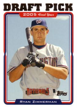 2005 Topps Update Ryan Zimmerman Rookie Card