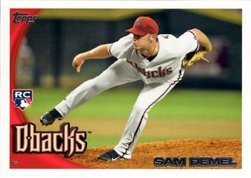 2010 Topps Update Sam Demel Rookie Card