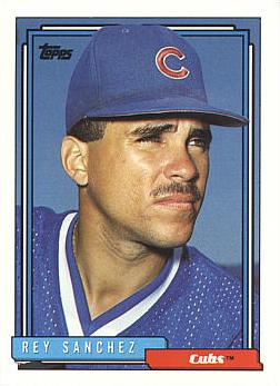 1992 Topps Traded Rey Sanchez rookie card