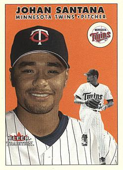 2000 Fleer Update Johan Santana Rookie Card