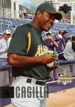 2006 Upper Deck Santiago Casilla Rookie Card