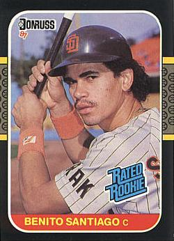 1987 Donruss Benito Santiago Rookie Card