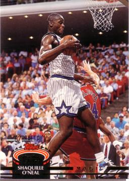 1992 / 93 Stadium Club Shaquille O'Neal Rookie Card