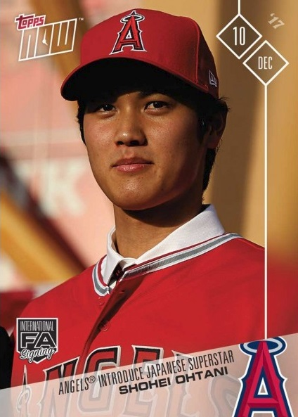 2017 Topps Now Shohei Ohtani Baseball Card
