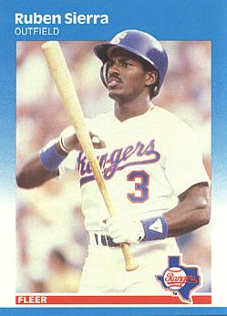 1987 Fleer Ruben Sierra rookie card