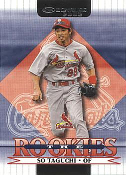 2002 Donruss Rookies So Taguchi Rookie Card