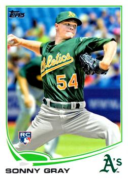 2013 Topps Update Baseball Sonny Gray Rookie Card