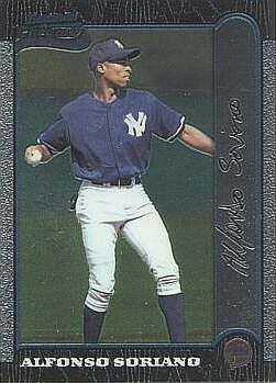 1999 Bowman Chrome Alfonso Soriano Rookie Card