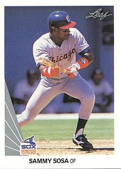 1990 Leaf Sammy Sosa rookie card