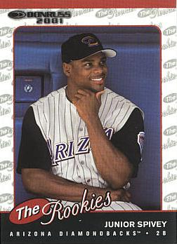 2001 Donruss Rookies Junior Spivey rookie card