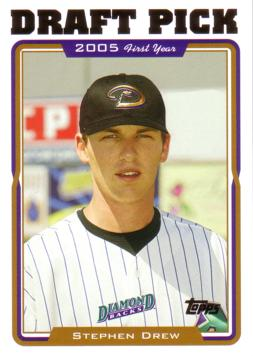2005 Topps Update Stephen Drew Rookie Card