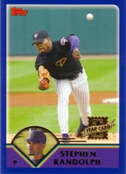 2003 Topps Traded Stephen Randolph Rookie Card
