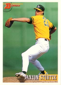 1993 Bowman Tanyon Sturtze Rookie Card