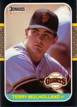 1987 Donruss Terry Mulholland Rookie Card
