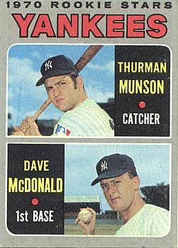 Thurman Munson Rookie Card