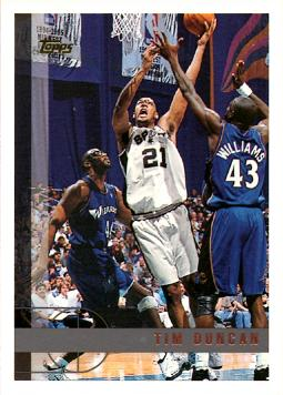 1997-98 Topps Basketball Tim Duncan Rookie Card