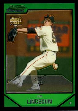 Tim Lincecum Bowman Chrome Rookie Card
