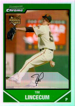 Tim Lincecum Bowman Chrome Refractor Rookie Card