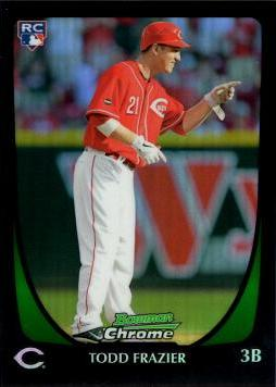 2011 Bowman Chrome Draft Picks Refractor Todd Frazier Rookie Card
