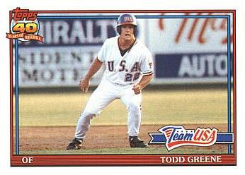 1991 Topps Traded Todd Greene Rookie Card