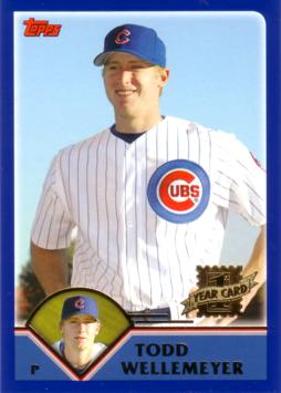 2003 Topps Traded Todd Wellemeyer Rookie Card