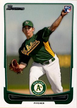 2012 Bowman Tom Milone Rookie Card